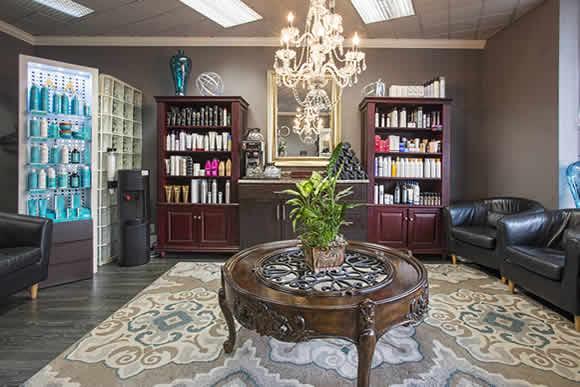 creatons salon reception area